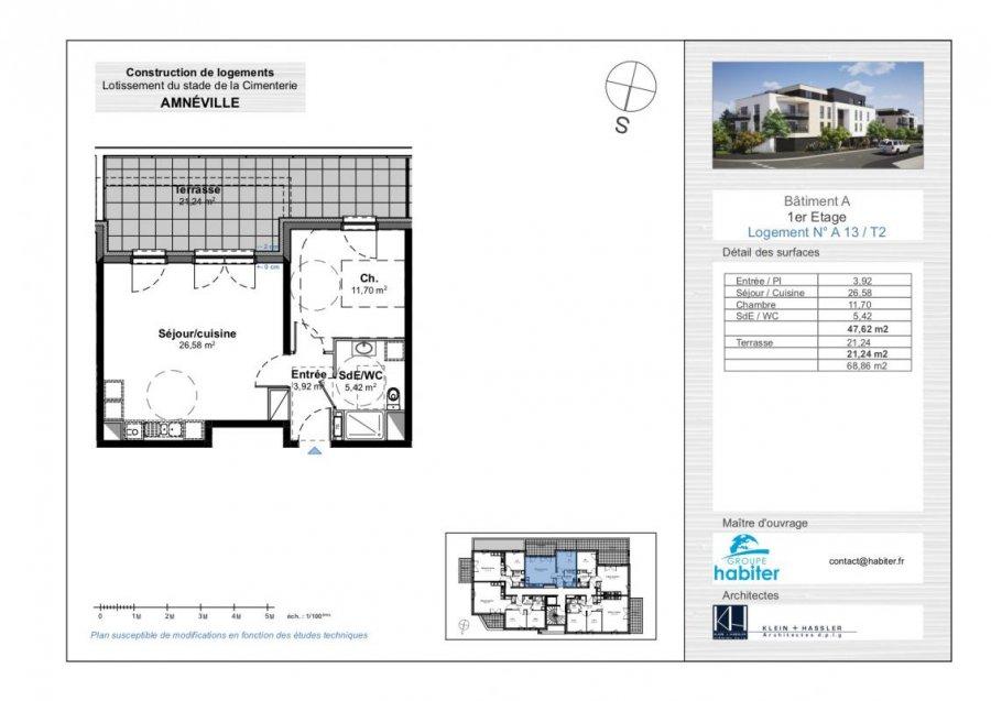 acheter appartement 2 pièces 47 m² amnéville photo 1