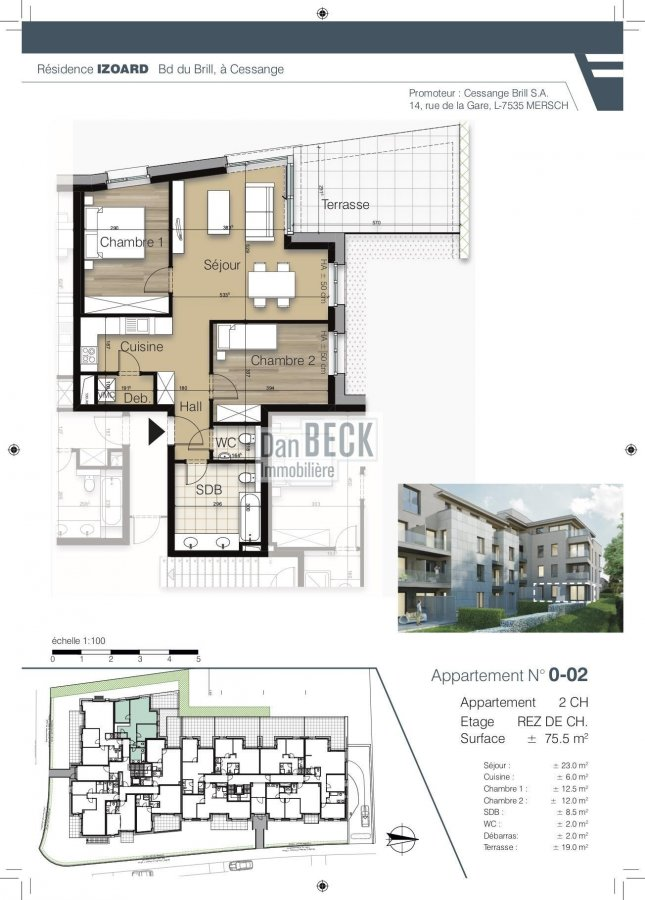 apartment for buy 2 bedrooms 75.7 m² luxembourg photo 1