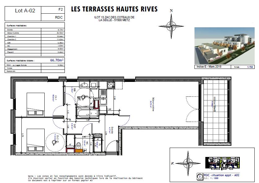 acheter appartement 3 pièces 66.7 m² metz photo 3