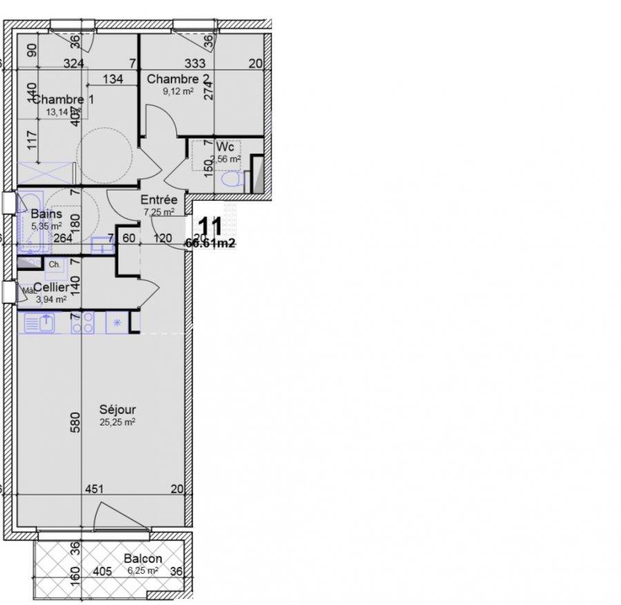 acheter appartement 3 pièces 66.61 m² yutz photo 3