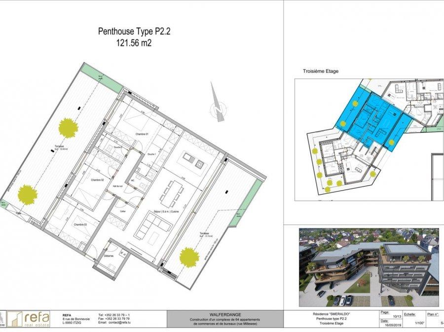 acheter penthouse 3 chambres 121 m² walferdange photo 1