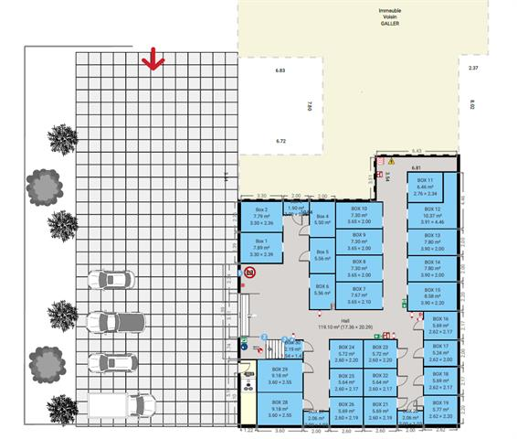 louer garage fermé 0 pièce 5 m² marche-en-famenne photo 5