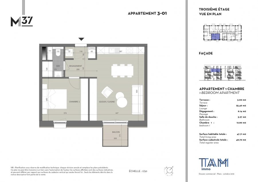 apartment for buy 1 bedroom 47.71 m² luxembourg photo 2