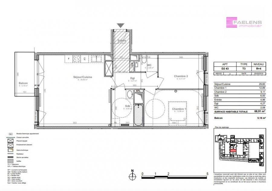 acheter appartement 3 pièces 69 m² lille photo 5