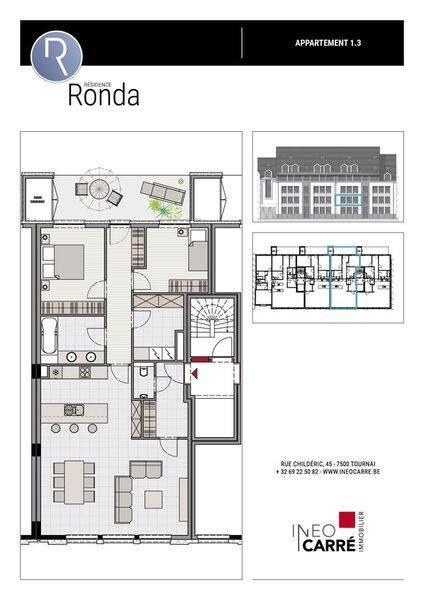 acheter appartement 0 pièce 105 m² tournai photo 3