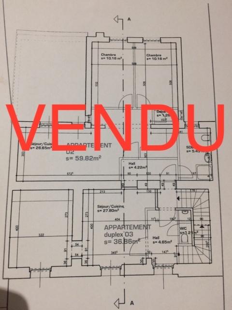acheter appartement 2 chambres 59 m² niederkorn photo 1