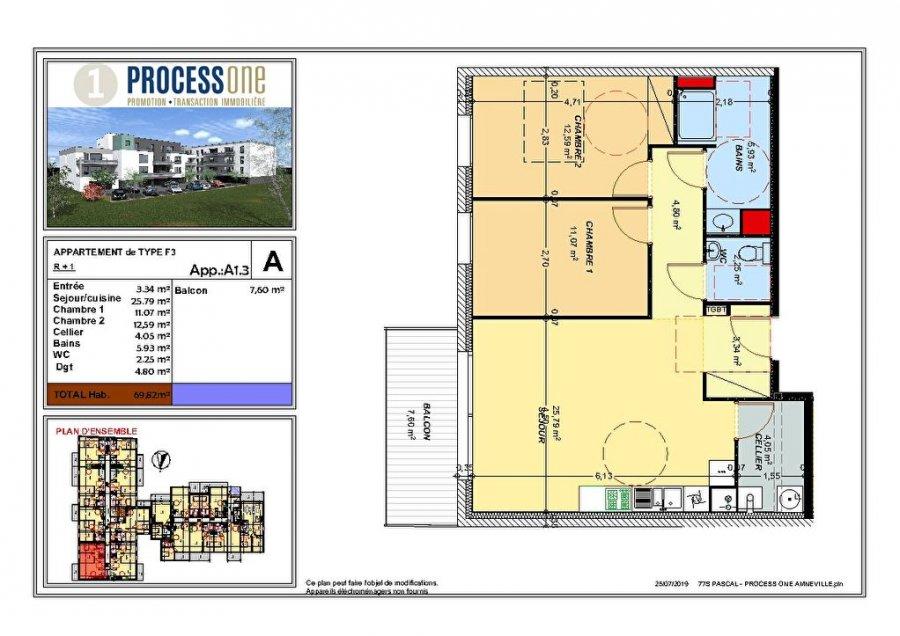 acheter appartement 3 pièces 69.88 m² amnéville photo 1