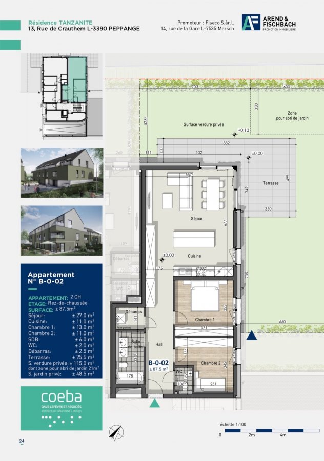 acheter appartement 2 chambres 87.36 m² peppange photo 4