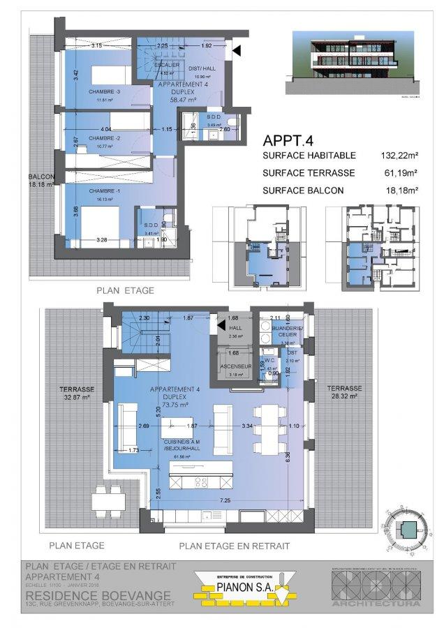 acheter duplex 3 chambres 133 m² mersch photo 3