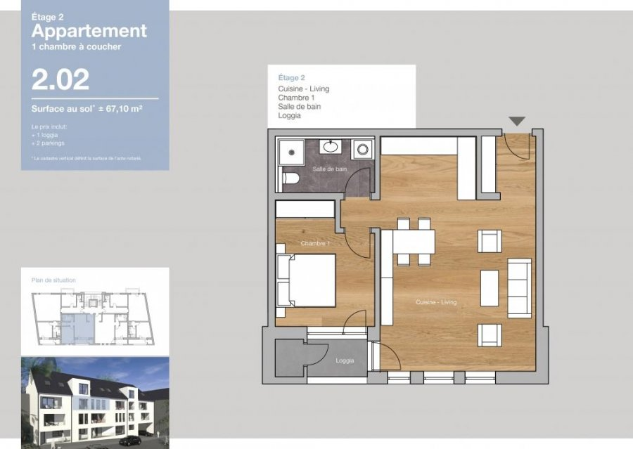 acheter appartement 1 chambre 67.1 m² clervaux photo 2