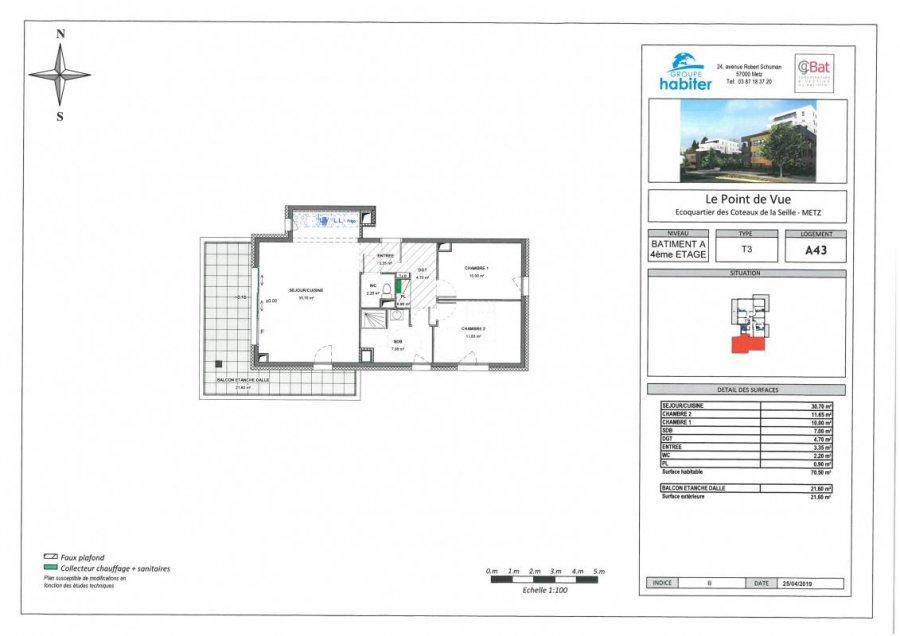acheter appartement 3 pièces 70 m² metz photo 1