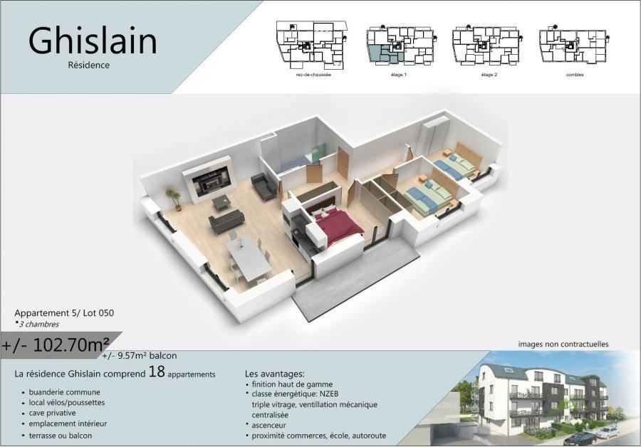 acheter appartement 3 chambres 107.49 m² rodange photo 2