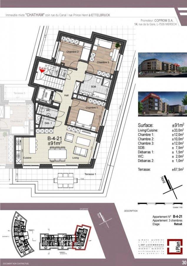 acheter appartement 3 chambres 91 m² ettelbruck photo 1