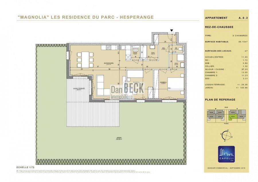wohnung kaufen 2 schlafzimmer 86.15 m² hesperange foto 1