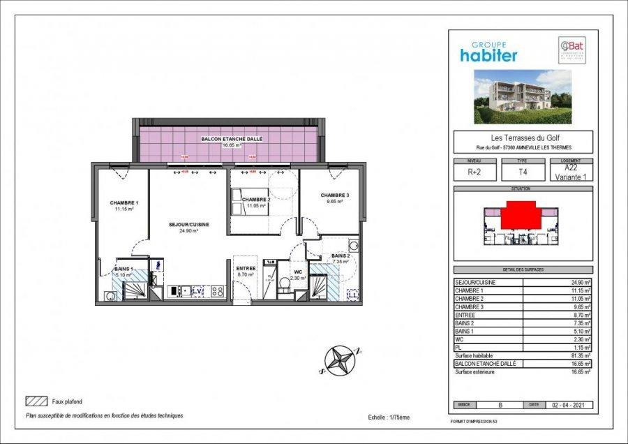 acheter appartement 4 pièces 81 m² amnéville photo 1
