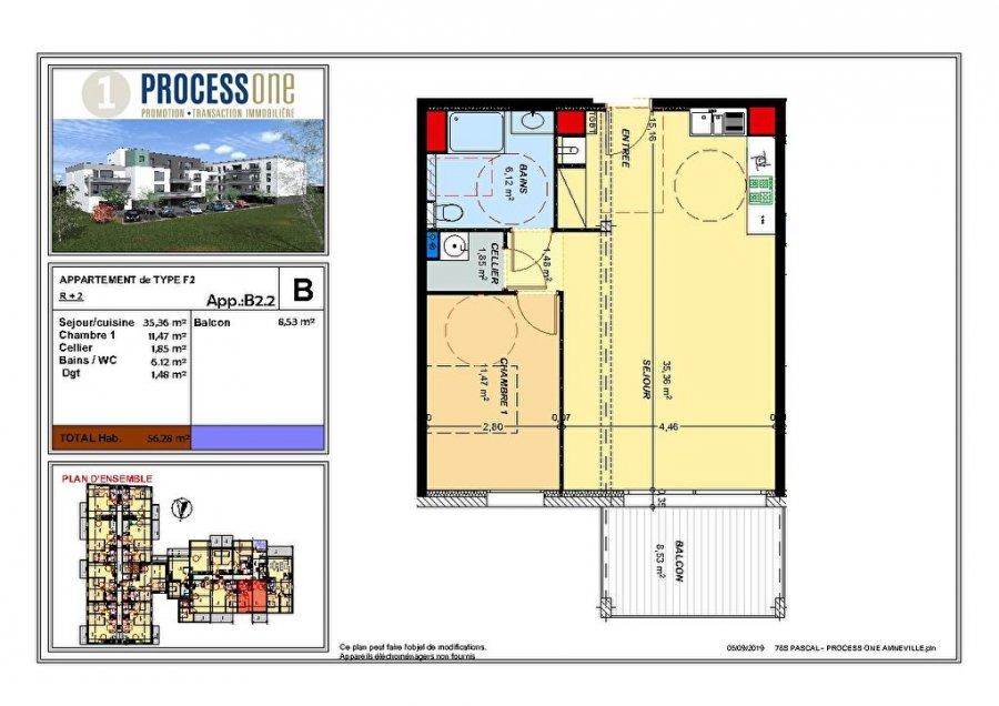 acheter appartement 2 pièces 56.28 m² amnéville photo 1