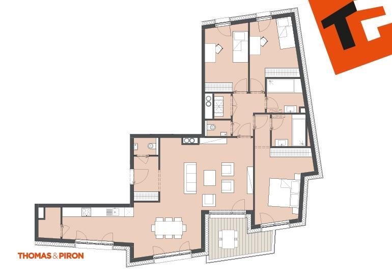 apartment for buy 3 bedrooms 123.86 m² schifflange photo 3
