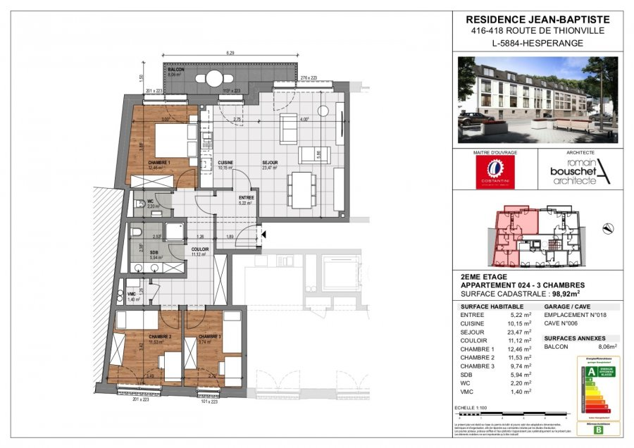 acheter résidence 0 chambre 55.67 à 113.38 m² hesperange photo 6