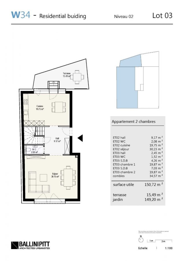 acheter duplex 2 chambres 150.72 m² luxembourg photo 5