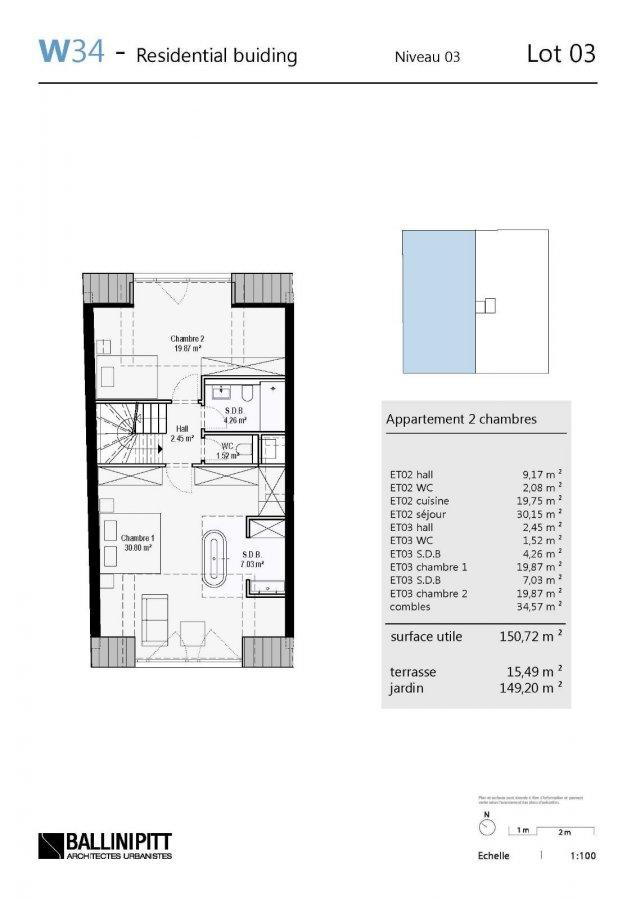 acheter duplex 2 chambres 150.72 m² luxembourg photo 6