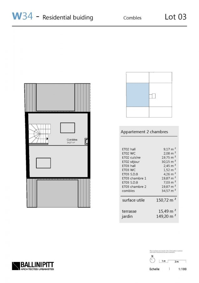 acheter duplex 2 chambres 150.72 m² luxembourg photo 7