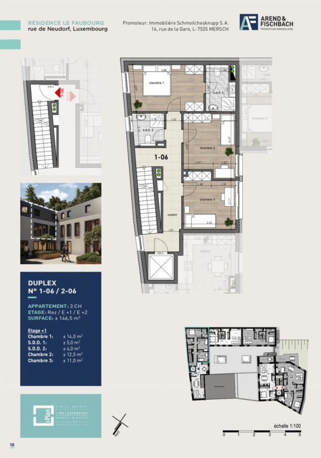 acheter duplex 3 chambres 146.6 m² luxembourg photo 6