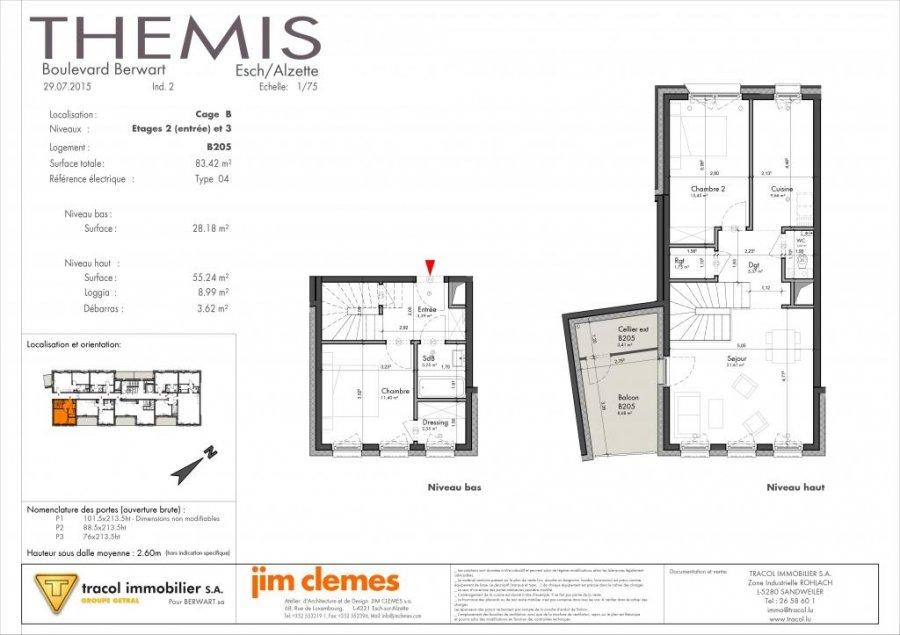louer duplex 2 chambres 83 m² esch-sur-alzette photo 7