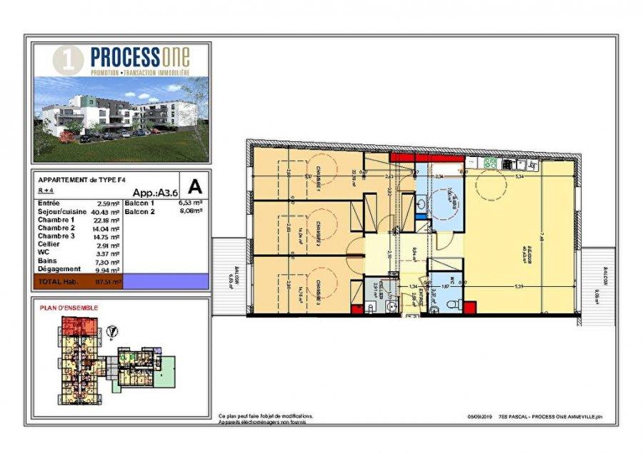 acheter appartement 5 pièces 117.49 m² amnéville photo 1