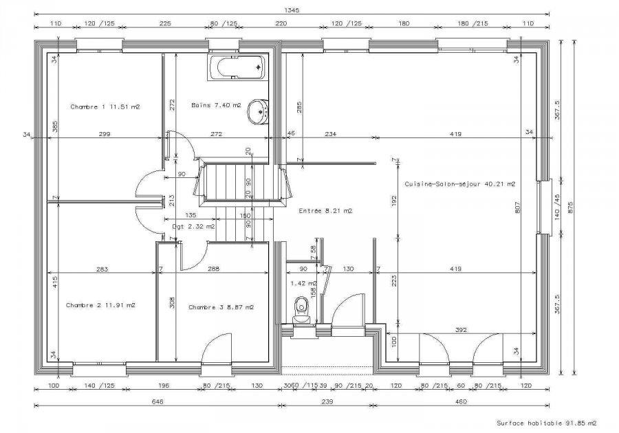 acheter maison individuelle 6 pièces 115 m² ennery photo 3