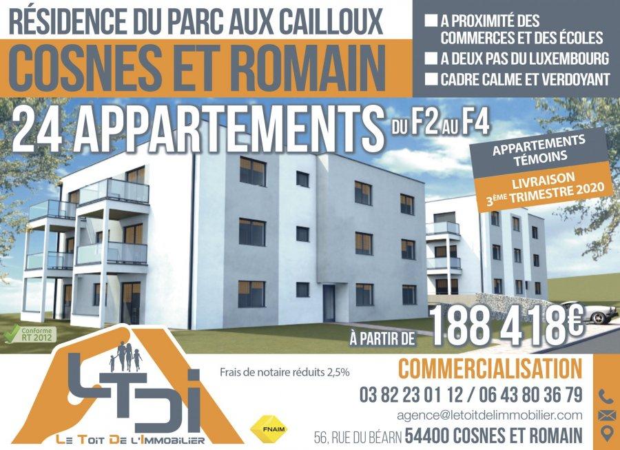 acheter appartement 3 pièces 61.32 m² cosnes-et-romain photo 2