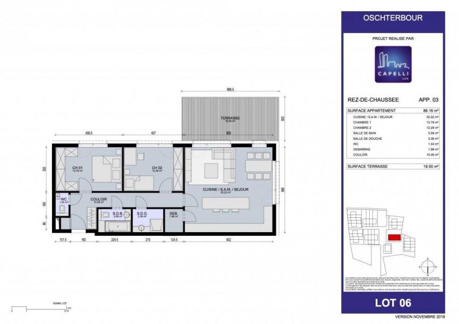 acheter appartement 2 chambres 86.16 m² differdange photo 3