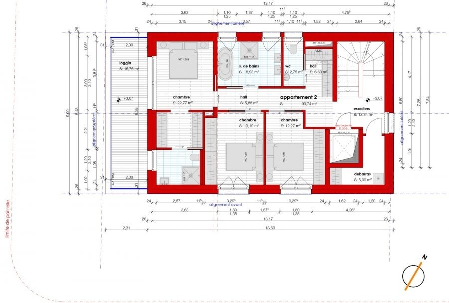 acheter penthouse 3 chambres 147.76 m² luxembourg photo 2