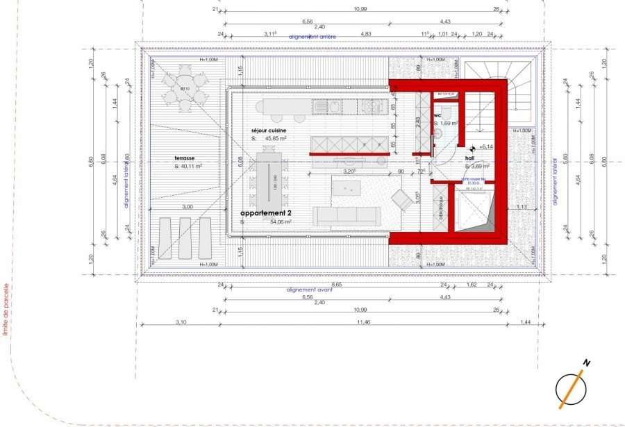 acheter penthouse 3 chambres 147.76 m² luxembourg photo 3