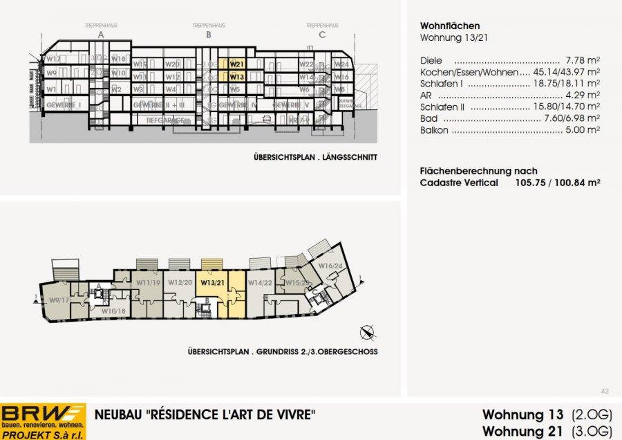 acheter appartement 2 chambres 105.75 m² echternach photo 3