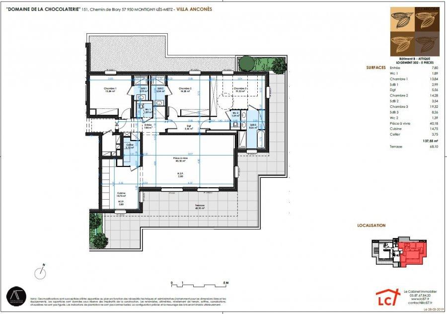 acheter appartement 5 pièces 137.55 m² montigny-lès-metz photo 4