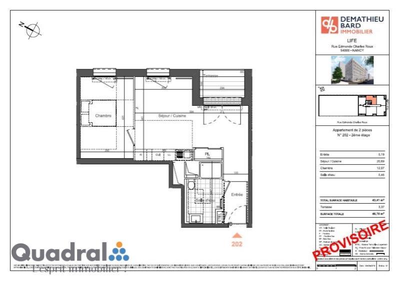 acheter appartement 2 pièces 43 m² nancy photo 3
