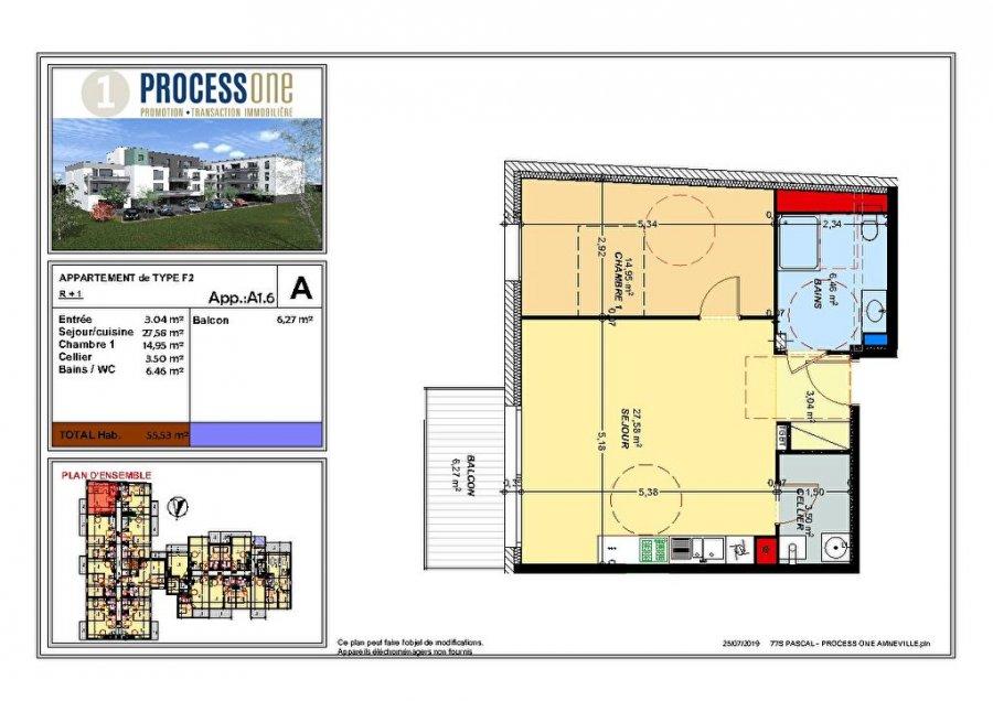 acheter appartement 2 pièces 55.53 m² amnéville photo 1