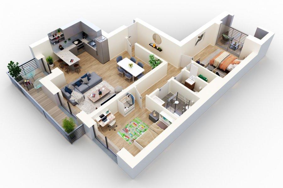 acheter appartement 2 chambres 82.76 m² esch-sur-alzette photo 1