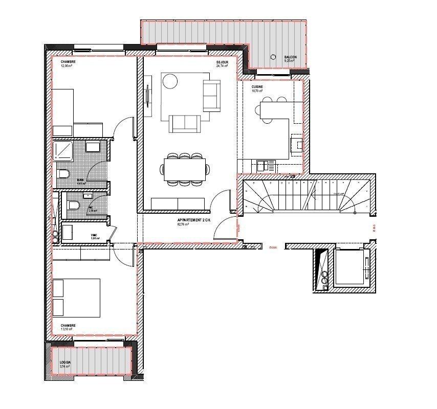 acheter appartement 2 chambres 82.76 m² esch-sur-alzette photo 4