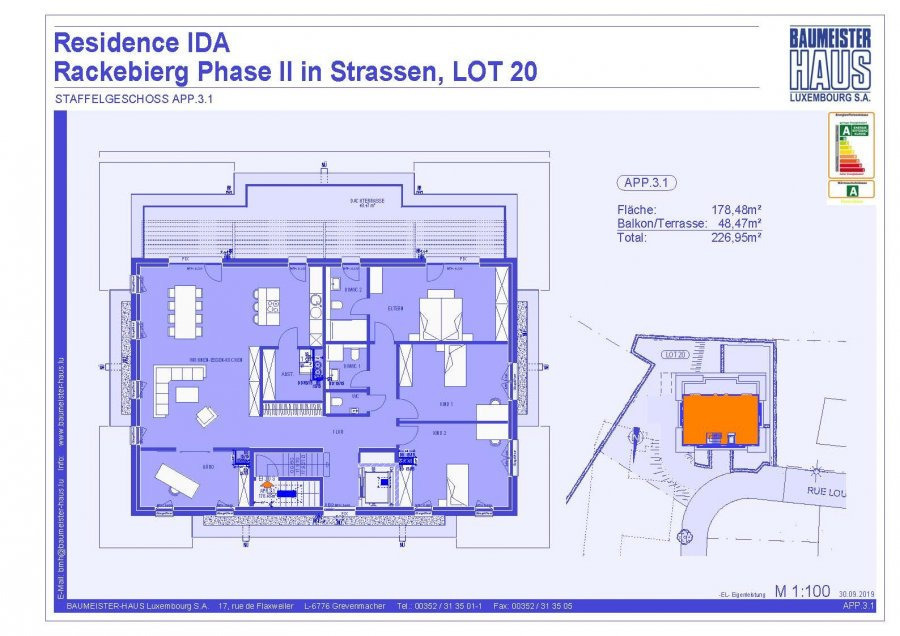 penthouse for buy 4 bedrooms 202.21 m² strassen photo 7