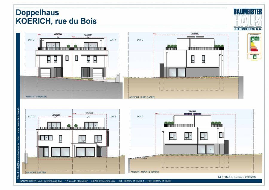 acheter maison jumelée 4 chambres 220.17 m² koerich photo 3