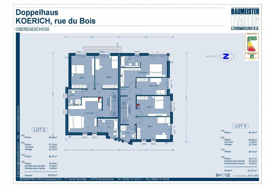 acheter maison jumelée 4 chambres 220.17 m² koerich photo 6