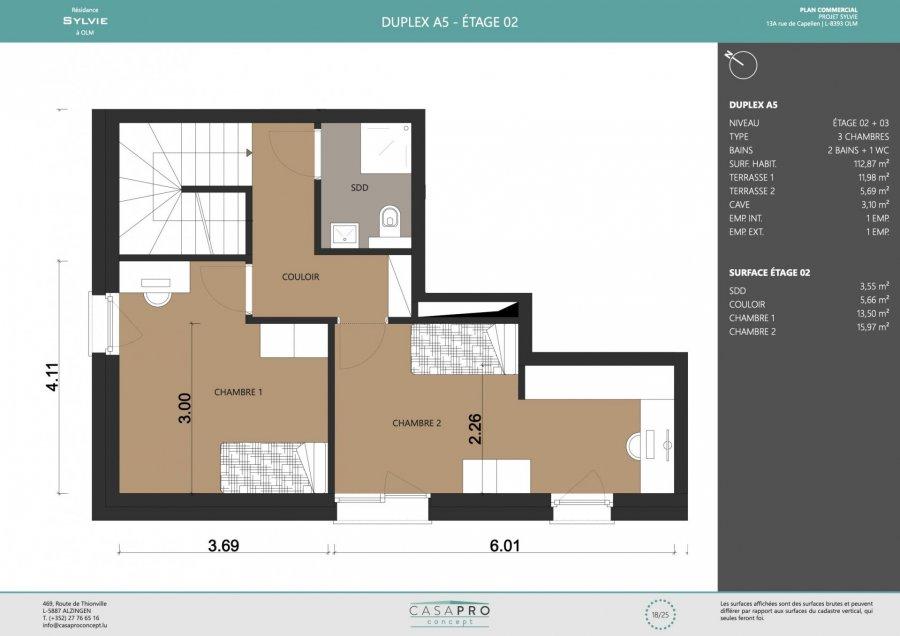 acheter penthouse 3 chambres 112 m² capellen photo 5