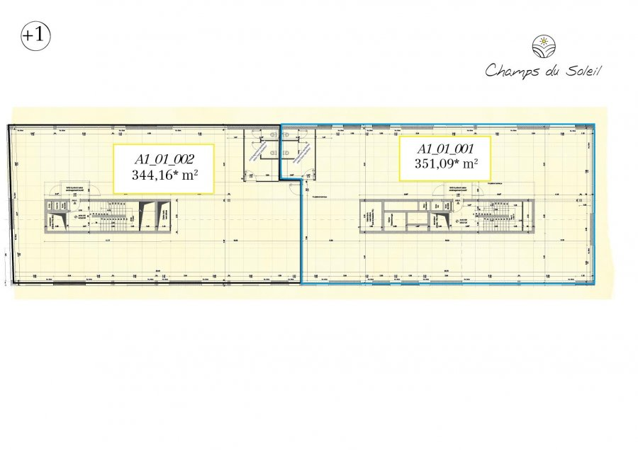 acheter bureau 0 chambre 695.25 m² steinfort photo 3