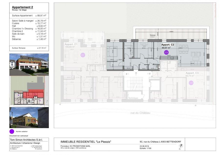 acheter appartement 2 chambres 100 m² bettendorf photo 7