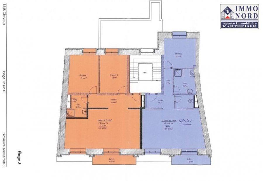 acheter appartement 2 chambres 72.61 m² clervaux photo 7