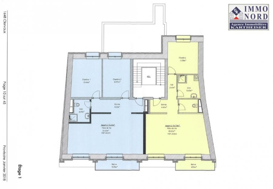 acheter appartement 2 chambres 72.61 m² clervaux photo 5