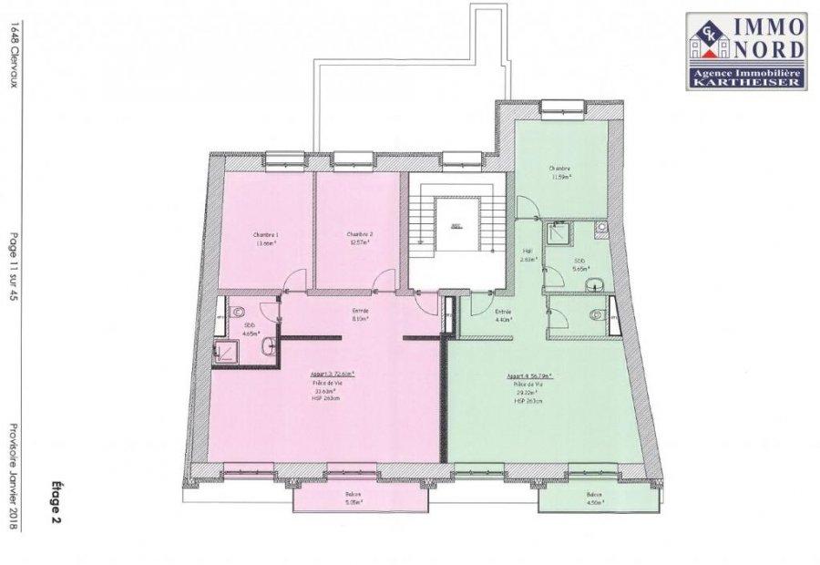 acheter appartement 2 chambres 72.61 m² clervaux photo 6