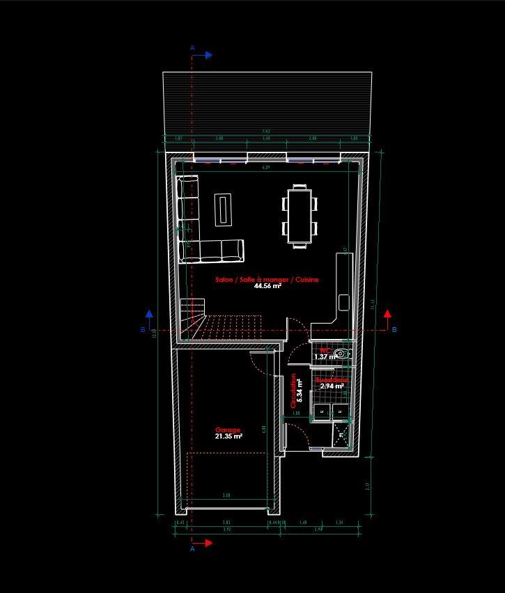 Maison individuelle à vendre F4 à Audun-le-Tiche