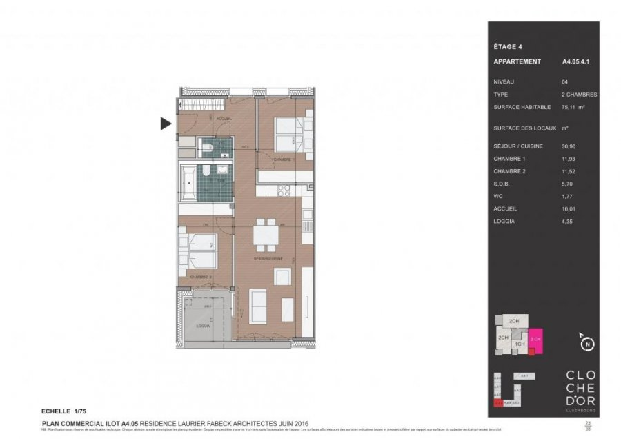 acheter appartement 2 chambres 78.37 m² luxembourg photo 3